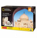 Cumpara ieftin Puzzle 3D + Brosura Taj Mahal, 87 piese, CubicFun