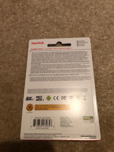 Card de memorie microSD Sandisk 16GB clasa 10, 80MB/s, Full HD