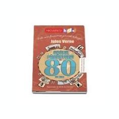 Ocolul pamantului in 80 de zile. Editie bilingva engleza-romana - Jules Verne