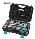 Trusa de chei tubulare 1/2+1/4 cu antrenor 44 piese (INDUSTRIAL) - MTO-THT421441