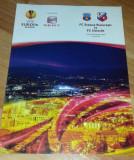 Program Fotbal Steaua Utrecht FC 2010 Europa league bilet Romania