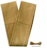 Husa volan cu snur din piele naturala perforata de culoare bej , marime XL 41-43 cm