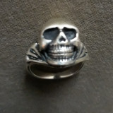 Inel SKULL argint 925, de colecție, unicat, unisex, stare 10/10.