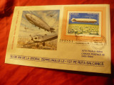 Plic FDC - 50 Ani de la Zborul cu Zepelinul LZ 127 pe ruta Balcanica -1978