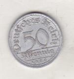 Bnk mnd Germania 50 pfennig 1920 A, Europa
