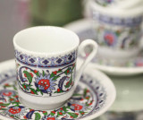 Set 6 cesti si 6 farfurioare Espresso Tradition - Kütahya Porselen, Multicolor