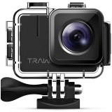 Camera video sport 4K Apeman Trawo, 50 fps, Wi-Fi, Stabilizator imagine, 2 acumulatori