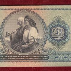 Bancnota Ungaria  -  DOUZECI PENGEI - 20 PENGO 1941