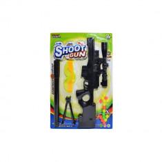Mini pusca de jucarie pentru copii, cu ochelari si bile foto