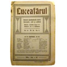 Revista LuceafarulNr. 28Volumul II1 sept. 1912