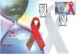 2011 Romania, FDC 30 ani Lupta impotriva HIV / SIDA LP 1904, plic prima zi, Romania de la 1950, Organizatii internationale
