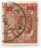 România, LP 320a/1952, Pa. cincinal, supr., 35 BANI pe 4 lei roşu, eroare, obl.