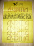 Afis Teatrul National - Auditia , regia Andrei Serban 1990 ,dim.= 50x69cm