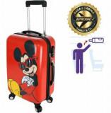 Cumpara ieftin Troler cabina Disney, 50 x 34 x 21 cm, geamantan Love Mickey, rosu-negru