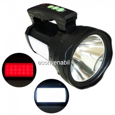 Lanterna Profesionala LED 50W cu Panouri LED, USB si Acumulator 4V TD6677 foto