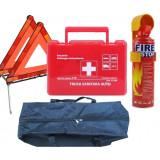 Trusa Medicala + Stingator Auto + 2 Triunghiuri + Organizator