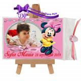 Marturii botez magneti Handmade by Diana Puiu Minnie Mouse MDFM 23