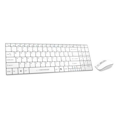 Kit Tastatura si Mouse Wireless Liberty Esperanza, Alb foto