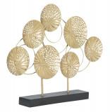 Decoratiune metalica Sculptura C Auriu / Negru, l56xA7xH43 cm