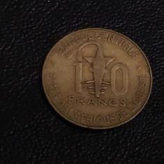 Monedă 10 francs 1979 Africa de Vest