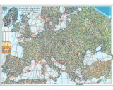 Harta de perete - Harta Europei fizica si rutiera/***, Amco Press