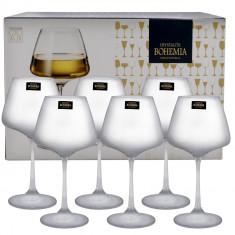 Set 6 pahare cristal vin alb Naomi Bohemia, 350 ml
