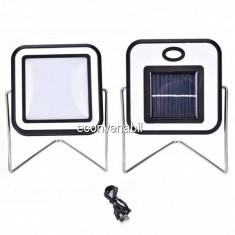 Proiector 30LED 10W Alb Rece Incarcare Panou Solar si USB RYT91330