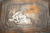 f Caseta veche de bijuterii, franceza, semnata, L. Boucher, antica