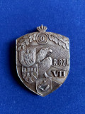 Insignă regimentală de 7 ani- Regimentul 82 Infanterie - Carol al II-lea -Argint