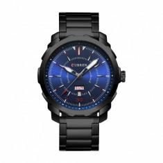 Ceas de mana barbati business, negru/albastru Curren - M8266NEGRU