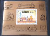 Cumpara ieftin Mongolia 1997, transporturi, locomotiva, bloc Mnh, Nestampilat