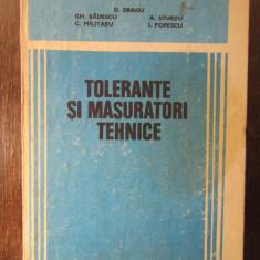 TOLERANTE SI MASURATORI TEHNICE-D.DRAGU