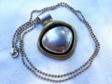 MEDALION argint MEXIC partial aurit MASIV opulent DE EFECT rar pe Lant argint