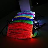 Cumpara ieftin Masca fata LED Rave party Revelion luminoasa cu filtru PM2.5 praf poluare +CADOU