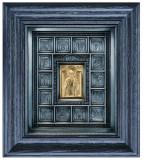 Icoane argintate, Icoana Scene din viata Sf. Nicolae, dim 27cm x 30cm, cod B-01