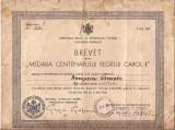 """BREVET """" MEDALIA  CENTENARULUI REGELUI CAROL I"""" - SEMNAT GRIGORE GAFENCU"""