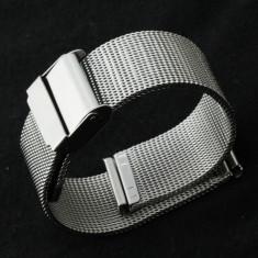 Bratara Ceas Otel Inoxidabil Argintie Milaneza 18mm MS-BR25