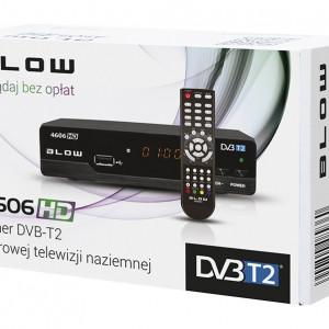 Receptor Receiver TV Digital HD Terestru DVB T2 Blow 4606HD cu Telecomanda, Iesire SCART, HDMI si Audio