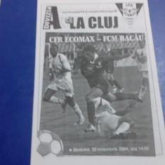 program       CFR Cluj   -  FCM  Bacau