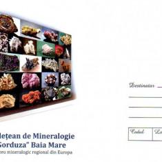 Mineralogie Victor Gorduza - Baia Mare, Stibina, intreg postal necirculat, 2018