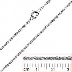 Lanț oțel inoxidabil - zale ovale răsucite și dese - Grosime: 2 mm