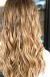 Extensii Par blond auriu kanekalon ondulat