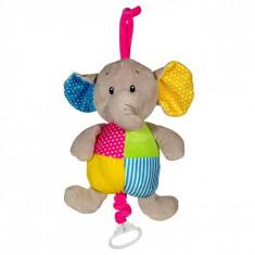 Jucarie de agatat, model elefant cu sunete, 27cm, multicolor
