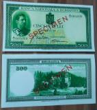 REPRODUCERE  bancnota specimen 1934-500_leii Romania