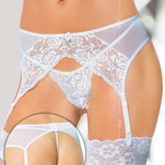 Set Portjartiera cu Bikini Softline - Alb