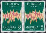 ANDORRA SPANIOLA 1972 - EUROPA CEPT - pereche UNC, Nestampilat