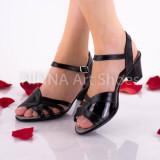 Sandale dama, negru, din piele naturala - NA301NEGRU
