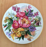 Farfurie - Ursula Band - Visul Florilor - Hutschenreuther - 1987 - Flori de Vara