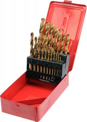 Set 19 burghie pentru metal din titan HSS 1 mm-10 mm STHOR foto