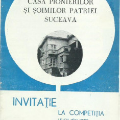 AMS - INVITATIE/AFIS - CASA PIONERILOR SI SOIMILOR PATRIEI SUCEAVA